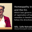 Sofie Rehndell – The laws governs registration of homeopathic remedies